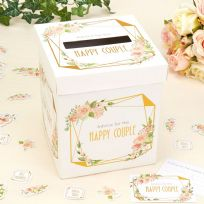 Geo Floral Wishes Cards Post Box